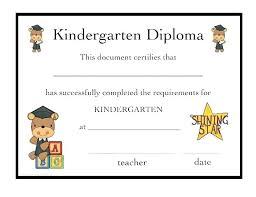 Chalkboard Kindergarten Diploma Certificate Templates By Deped