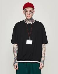 Hedonistk Loose Fit <b>T</b>-<b>shirt</b> Men Streetwear 2019 <b>Summer Short</b> ...