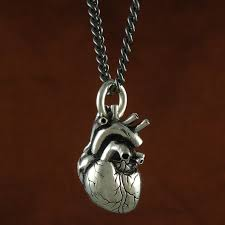 anatomical heart necklace stuff you