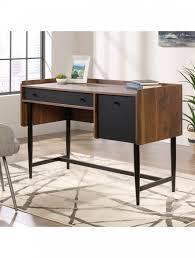 Compact office desks Executive Home Office Desks Hampstead Park Compact Walnut Office Desk 5420284 Enlarged View Home Office Desks Hampstead Park Walnut Office Desk 5420284 121