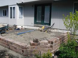 Exellent Raised Patio Pavers To Build A With Retaining Wall Innovation Design