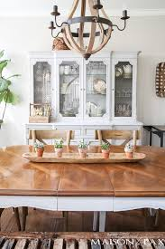 simple spring dining room decorating