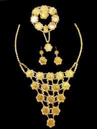 set 21k gold coin necklace set 2731