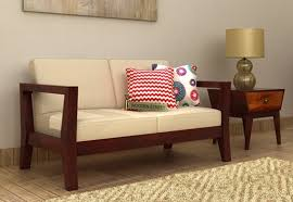 simple wooden sofa chair. Exellent Sofa The Hugo 2 Seater Wooden Sofa In Mahogany Finish Is A Simple Sofa Which  Occupy Less Space And Would Provide Comfortable Seating With Simple Chair