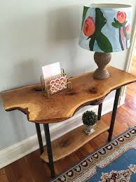 Live Edge Entryway Table Natural Scandinavian Style Console Sofa New Cheap Hallway