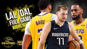 Los Angeles Lakers vs Dallas Mavericks Full Game Highlights ...