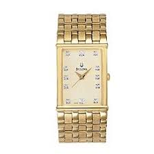 bulova men s watches sears bulova mens diamond accented dress watch champagne dial and goldtone link band