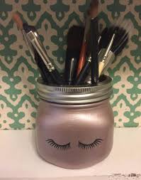 mason jar makeup brush holder. rose gold lash makeup brush holder - mooi lab mason jar