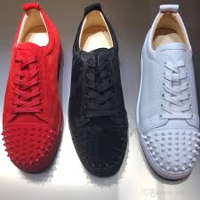 designer sneakers red bottom shoe low cut suede spike luxury shoes for men and women shoes party wedding crystal leather sneakers mens loafers shoes