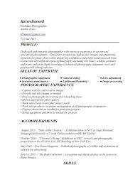 11 12 Resume Samples For Photographers Lascazuelasphilly Com