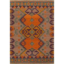 jaipur living flat weave burnt orange 4 ft x 6 ft tribal area