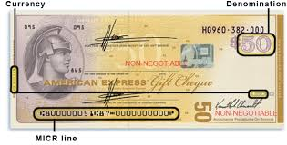 american express gift cheque