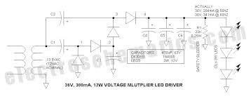 voltage multiplier for power led driver voltage multiplier led driver schematic