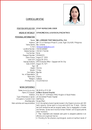 Sample Resume For Overseas Jobs Elegant Abroad Resume Format Job Latter 17
