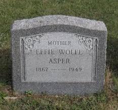 Effie D. Wolfe Asper (1867-1949) - Find A Grave Memorial