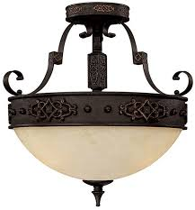 capital lighting 3603ri river crest traditional rustic iron semi flush flush mount ceiling light fixture loading zoom