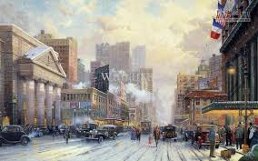 2018 hd print oil painting on canvas art deco new york snow on seventh avenue from wuhaisu 17 09 dhgate com