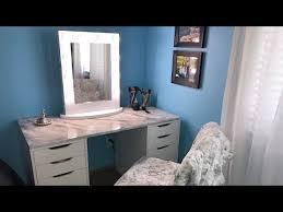 my ikea vanity setup linnmon table