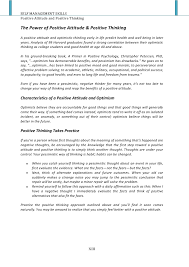 essay topic positive attitude essay on the power of positive thinking