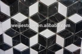 black and white diamond tile floor. Diamond Shaped Black And White Marble Flower Mosaic Floor Tile,Commercial Bathroom Tiles - Buy Commercial Tiles,Black Tile .