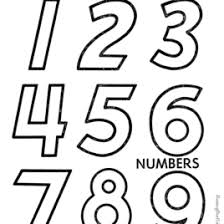 Number Coloring Pages For Kindergarten All About Coloring Pages