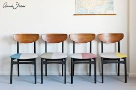 painted mid century furnitureAnnie Sloan  Paint  Colour MidCentury Modern Chairs