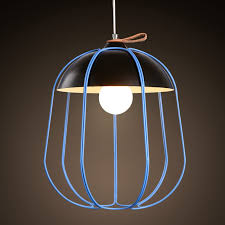 modern hanging cage 1 light wrought iron pendant light with dome shade
