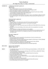 Security Assistant Resume Samples Velvet Jobs