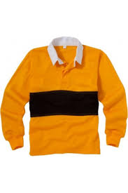 rugby shirt amber black up to size 36