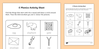 There are children who can read by the time that they are five years old when they are taught using orton methods. E Phonics Activity Worksheet Teacher Made