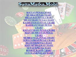 Mumbai Game Chart The Satta Matka Game Is The Popular Betting Game Ppt Download