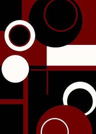 1010 red black white blue purple modern area rug contemporary carpet