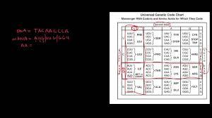 Hazchem Code Chart Genetics 6 Universal Genetic Code Chart