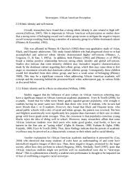 stereotypes and african american self perception sociology essay  stereotypes and african american self perception essay example