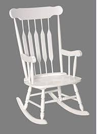 Image Indoor Outdoor Amazoncom Adult Solid Wood Rocking Chair White