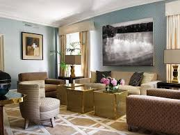 Blue and Beige Living Room | Blue Beige Brass Living Room Paint Ideas