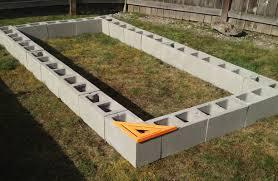how to make an easy raised garden bed nice homely ideas concrete block raised garden