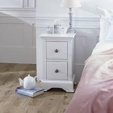 slim white bedside table davenport