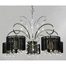 cheap chandelier lighting. Aegean Black Shade 5-light Chrome Chandelier - L661-HLJ-295 Cheap Lighting Y