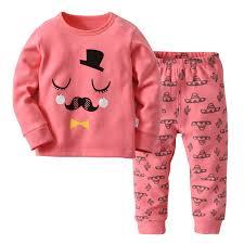 2 7y Kids Pink Pijamas Baby Girls Boys Christmas Children Pajamas Nightwear For Pajimas 2018 Clothes Toddler Long Sleeve Sleepwear Baby Pajama Smurf