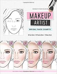 makeup artist bridal face charts the beauty studio collection gina m reyna 9781539580027 amazon books