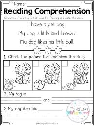 Kindergarten Reading Worksheets Free Comprehension Math And For ...