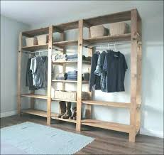 build free standing closet liding door your own diy wardrobe plans regarding plan 7
