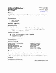 Undergraduate Resume Template Word Simple 42 Fresh Student Resume