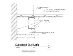 metal stud framing details. 09 21 16.93.231 DWSS Supporting Stud Soffit Metal Framing Details G
