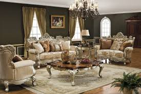 retro living room furniture. M : Vintage Living Room Furniture Fancy Crystal Chandelier In Green Gold Ceiling Brown Lacquered Wood Trunk Table Leather Arms Sofa Laminate Retro