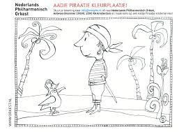 Aadje Piraatje Kleurplaatje Nederlands Philharmonisch Orkest