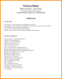 makeup resume exles of resumes rel artist sle exle simple for hair stylist and feat makeup beginner