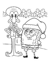 spongebob squarepants squidward coloring page printable