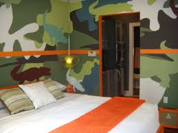 painting boys room painting a wall in a camouflage pattern can be a fun project